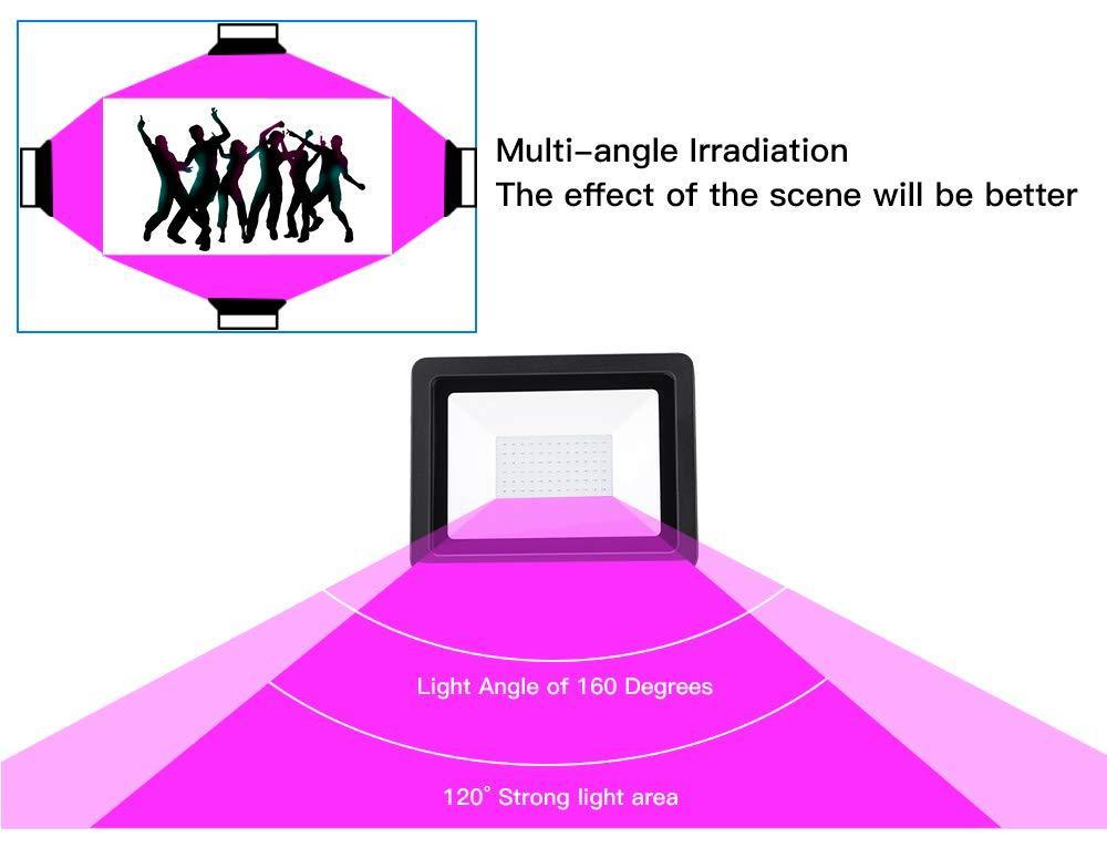 WELKEY PLUS 2 Pack 80W UV LED Black Light Flood Light Pros and Cons