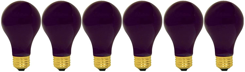 GE Lighting 25905 60-watt A19 Black Light Bulb