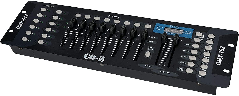 CO-Z 192 DMX 512 Stage DJ Light Controller review
