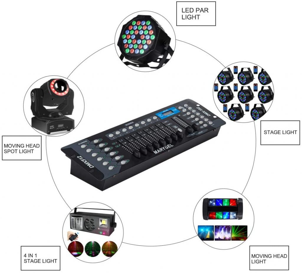 MARYGEL 192 CH DMX 512 Controller review