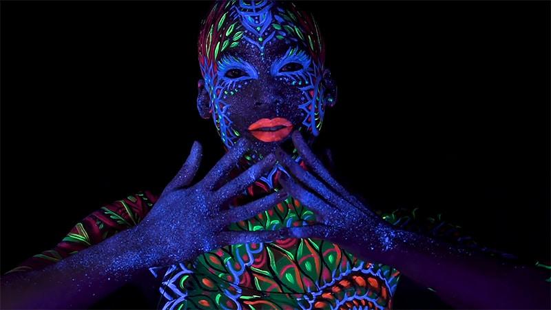 Phosphorescent Body Paint