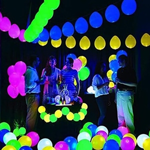 20 LED Light Up Balloons Mixed Colors