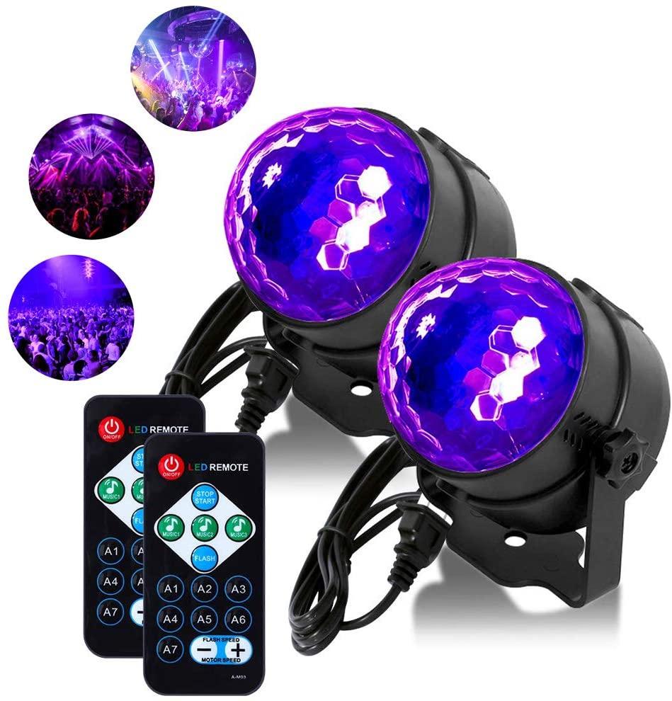 Litake UV Black Lights 6W LED Disco Ball